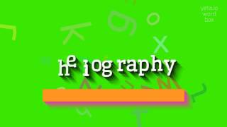 """How to say """"heliography""""! (High Quality Voices)"""