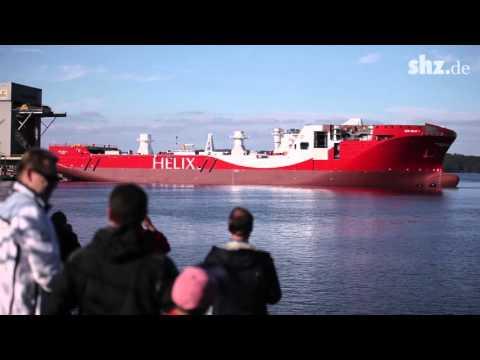 Stapellauf in Flensburg: Offshore-Spezialschiff für norwegische Reederei