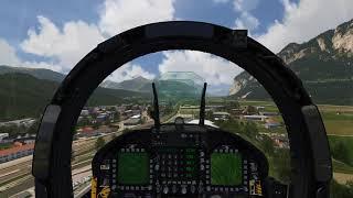 Cockpit F-18 Super Hornet flying over Innsbruck - Aerofly FS 2