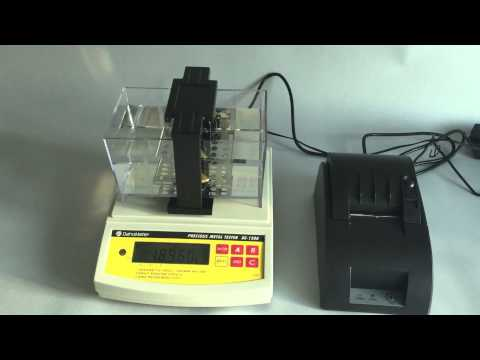 DE 120K operation video for electronic gold tester,precious metal tester,gold purity testing machine
