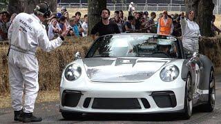 2018 Porsche 911 Speedster Concept: Exterior and Interior Overview and Hill Climb! FoS 2018.
