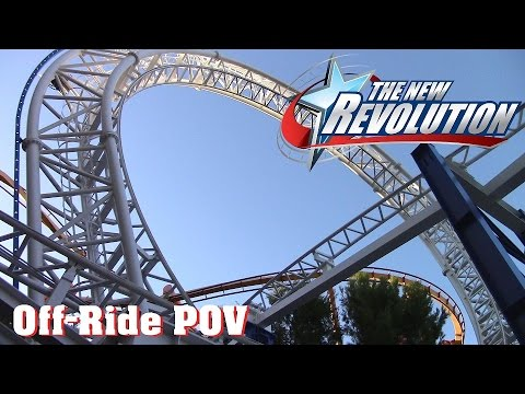 The New Revolution Off Ride HD 60fps at Six Flags Magic Mountain