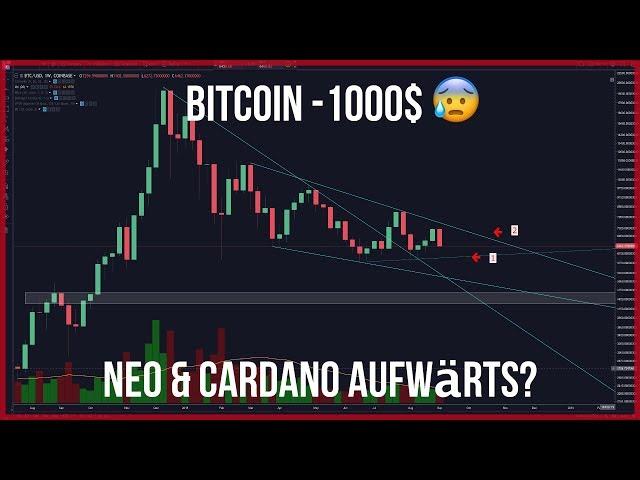 😰Bitcoin -1000$ NEO und Cardano rappeln sich auf 😢ETH bricht ein