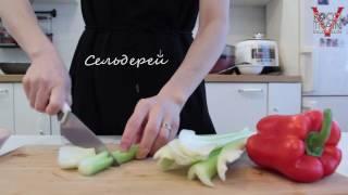 Китайская кухня Салат с сельдереем и болгарским перцем