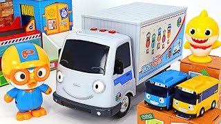 Delivery came~ Pororo, Tayo, Tony Delivery Truck Delivery play! | PinkyPopTOY
