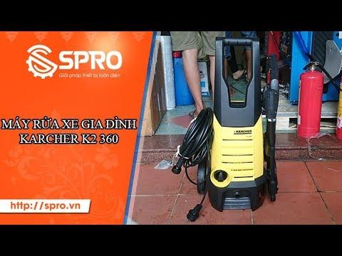 Máy rửa xe gia đình Karcher K2 360 áp lực mạnh, dễ dàng rửa những vết bẩn cứng đầu