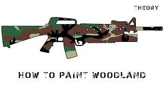 How to paint Woodland / покраска в камуфляж Вудланд