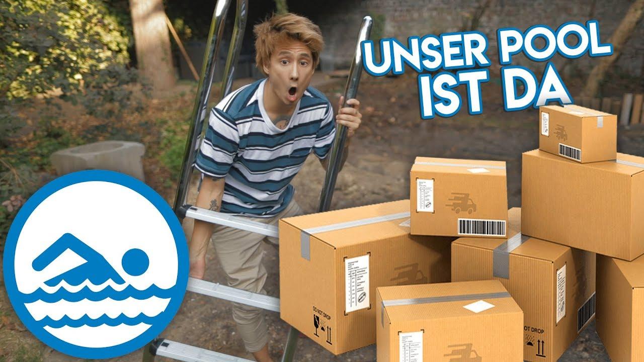 WIR packen unseren SWIMMINGPOOL aus (viele schwere Pakete xD)