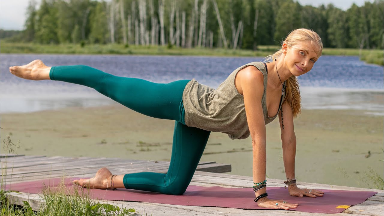 Beginner Yoga Workout Easy Yoga For Weight Loss Siberia Youtube