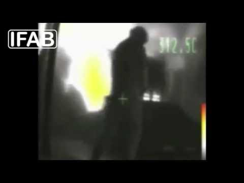 www.ifab-fire.com - Thermal camera view in tunnel fire test with FFFS (high-pressure water mist)