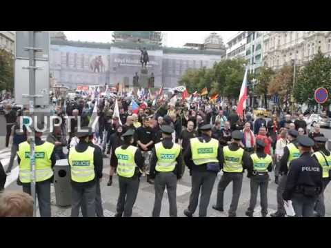 Czech Republic: Anti-EU rally brings hundreds onto Prague's streets