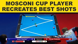 Mosconi Cup 9-Ball 2020 TOP SHOTS Recreated With Fedor Gorst