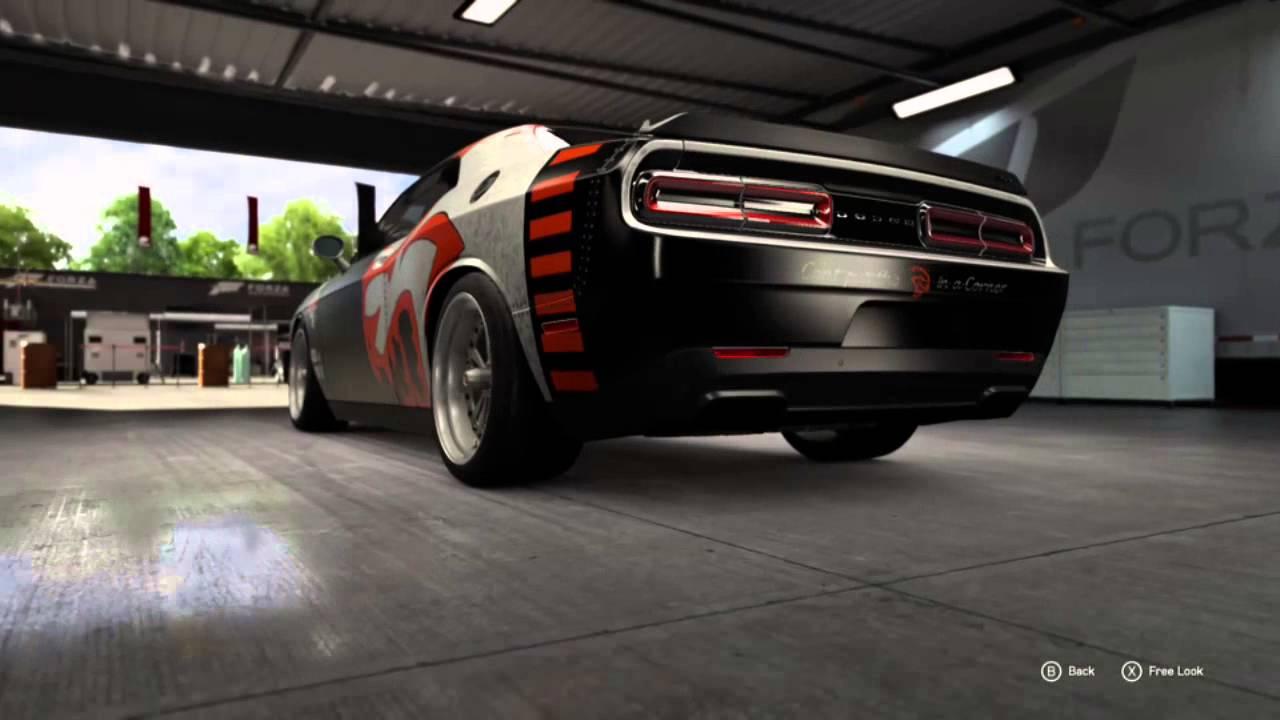 Custom Hellcat Paint In Forza 6 Youtube