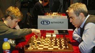 Magnus Carlsen Gana Sobre Garry Kasparov ... Casi (Magnus Carlsen vs Garry Kasparov)