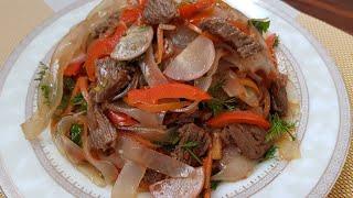 Салат Ашлянфу пошаговый рецепт 👍👍👍