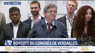 MÉLENCHON : «NOUS N'IRONS PAS AU CONGRÈS DE VERSAILLES»