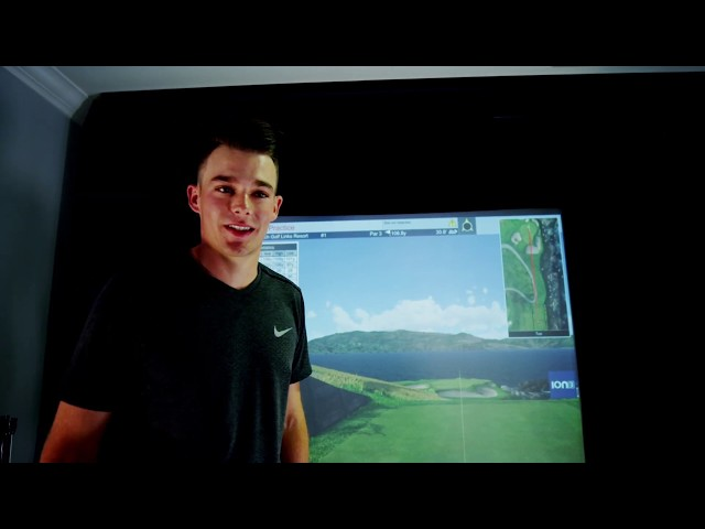 Aaron Wise's Hole in One on His Full Swing Simulator