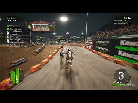 Monster Energy Supercross 2 - Las Vegas (Sam Boyd Stadium) - Nevada Gameplay (PS4 HD) [1080p60FPS]