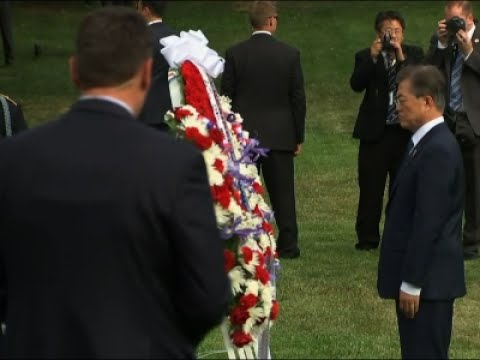 South Korean President Lays Wreath at Memorial