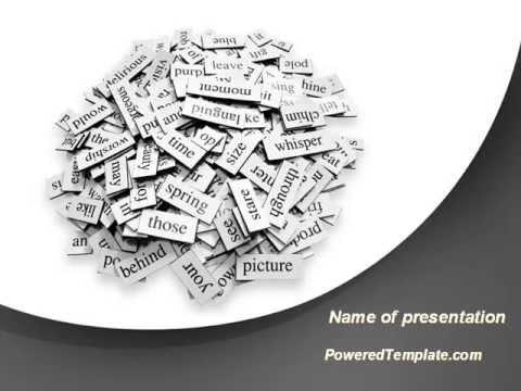Linguistics PowerPoint Template by PoweredTemplate.com