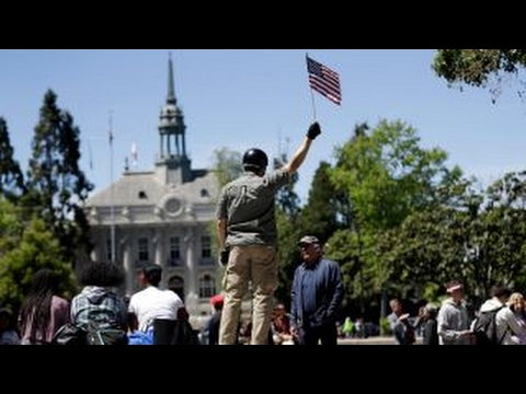 Thumbnail: Peaceful protests at UC Berkeley over Ann Coulter