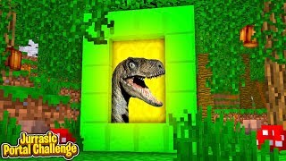 PORTAL TO JURRASIC WORLD 2 CHALLENGE (Portal Vs Portal)
