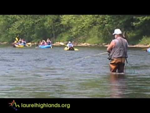 Fly fishing on the youghiogheny river youtube for Youghiogheny river fishing