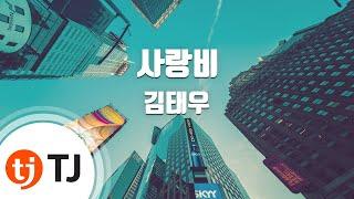 Love Rain 사랑비_Kim Tae Woo 김태우_TJ노래방 (Karaoke/lyrics/romanization/KOREAN)