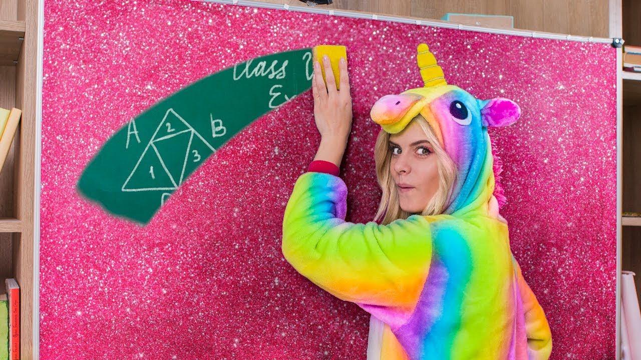 10 Diy Unicorn School Supplies Vs Mermaid School Supplies Youtube