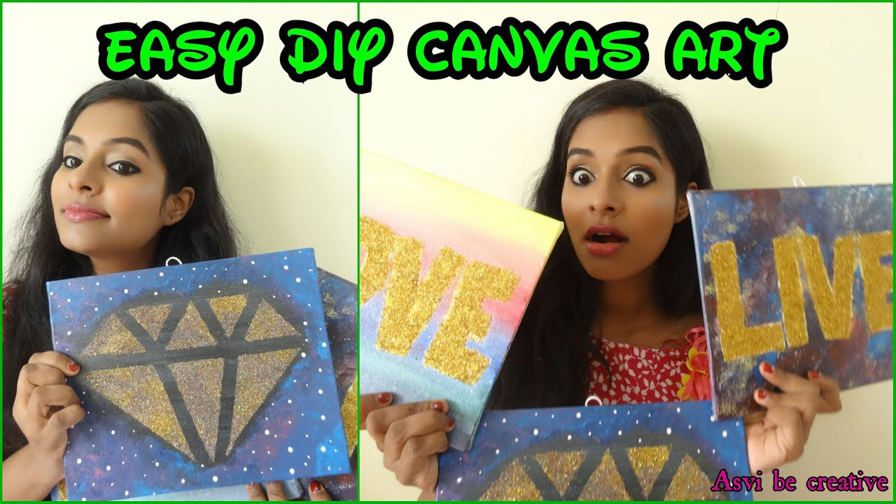 Canvas Wall Art Diy Tumblr : Tumblr inspired diy canvas art easy cheap room decor