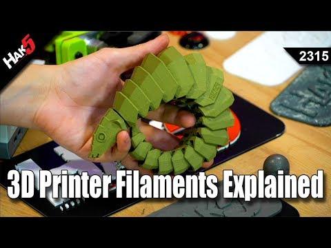 3D Printer Filaments Explained - Hak5 2315