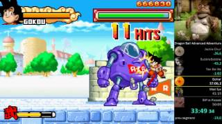Dragon Ball Advanced Adventure [GBA] - Speed Run in 49:38 (Live Commentary)