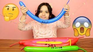 سويت سلايمات مختلفة بطريقة البالون لكن ببالونات طويلة 🤔 😱 سويت سلايم مائي! وفلفي!