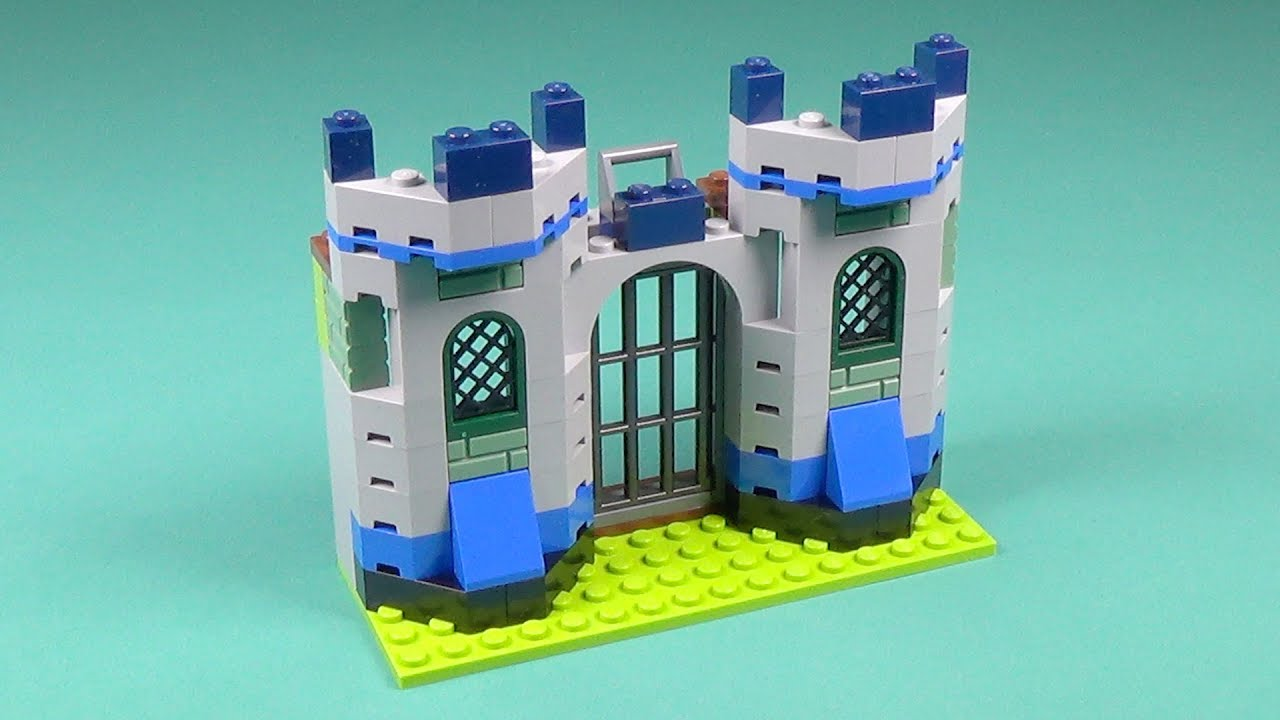 Lego knights 39 castle building instructions lego classic for Lego classic house instructions