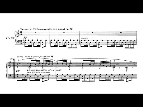 "Ravel ""Bolero"" PIANO SOLO - FOLLOW SCORE (with and without drum)"