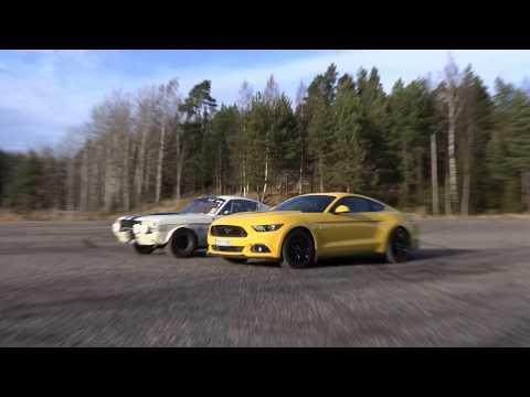 Peter Geitelin koeajossa uusi Ford Mustang GT