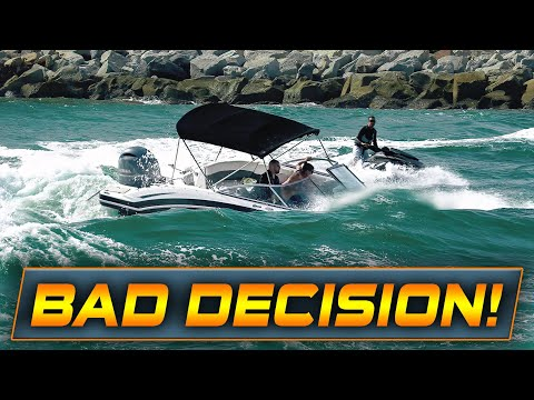 BOAT HEADING INTO DANGEROUS WAVES! | Boats vs Haulover Inlet