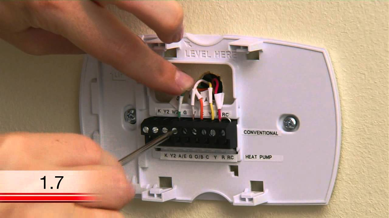 honeywell rth6580wf wi fi tstat extra wire installation video [ 1280 x 720 Pixel ]