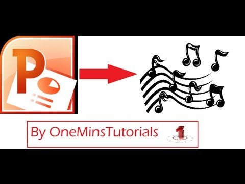 How to add background music to microsoft office powerpoint 2010 (NEW 2014 UPDATED)