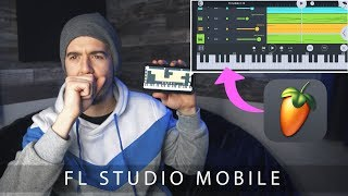 FL STUDIO MOBILE IS LIT!! (making a beat fl studio)