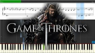 Игра престолов. Музыка из фильма. Ноты.