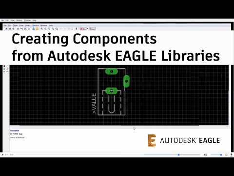Creating Custom PCB Library Component from an EAGLE Library - YouTube