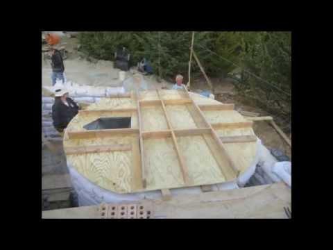 Earthbag Rainwater Cistern