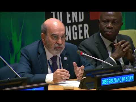 FAO Director-General at UNGA's Data to End Hunger event