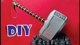 Como hacer el Martillo MJOLNIR THOR de cartón - How to make the MJOLNIR THOR #avengersendgame