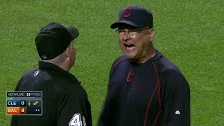 CLE@BAL: Francona ejected after disputing strikeout