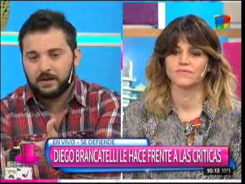 Picante cruce entre María Freytes y Diego Brancatelli