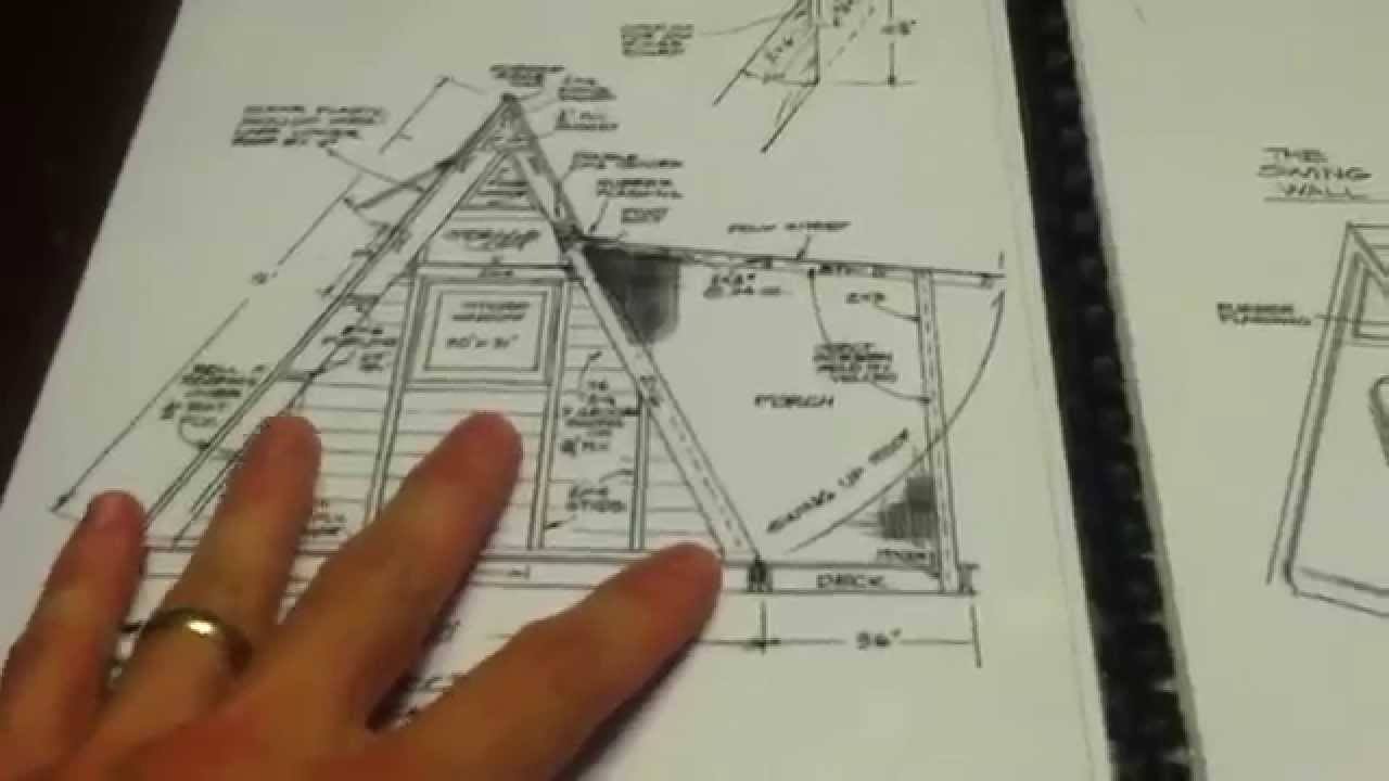 Great plans to build an a frame tiny house for around for Build a house online free