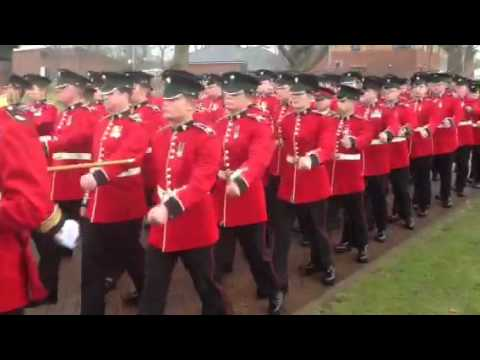1st Battalion, Irish Guards On St Patricks Day, 2012.