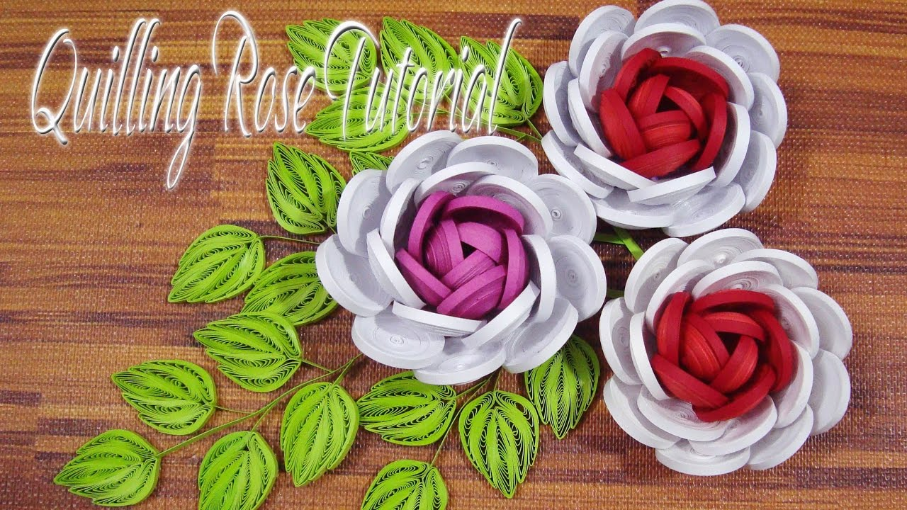 Quilling rose flower tutorial diy paper rose flower tutorial youtube quilling rose flower tutorial diy paper rose flower tutorial mightylinksfo